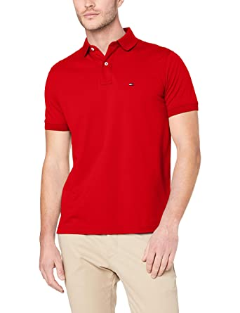 Tommy Hilfiger Regular, Polo para Hombre, Rojo (Haute Red 611 ...