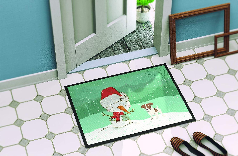 Carolines Treasures Welcome Friends Yorkie Natural Ears Indoor or Outdoor Doormat 18hx27w Multicolor