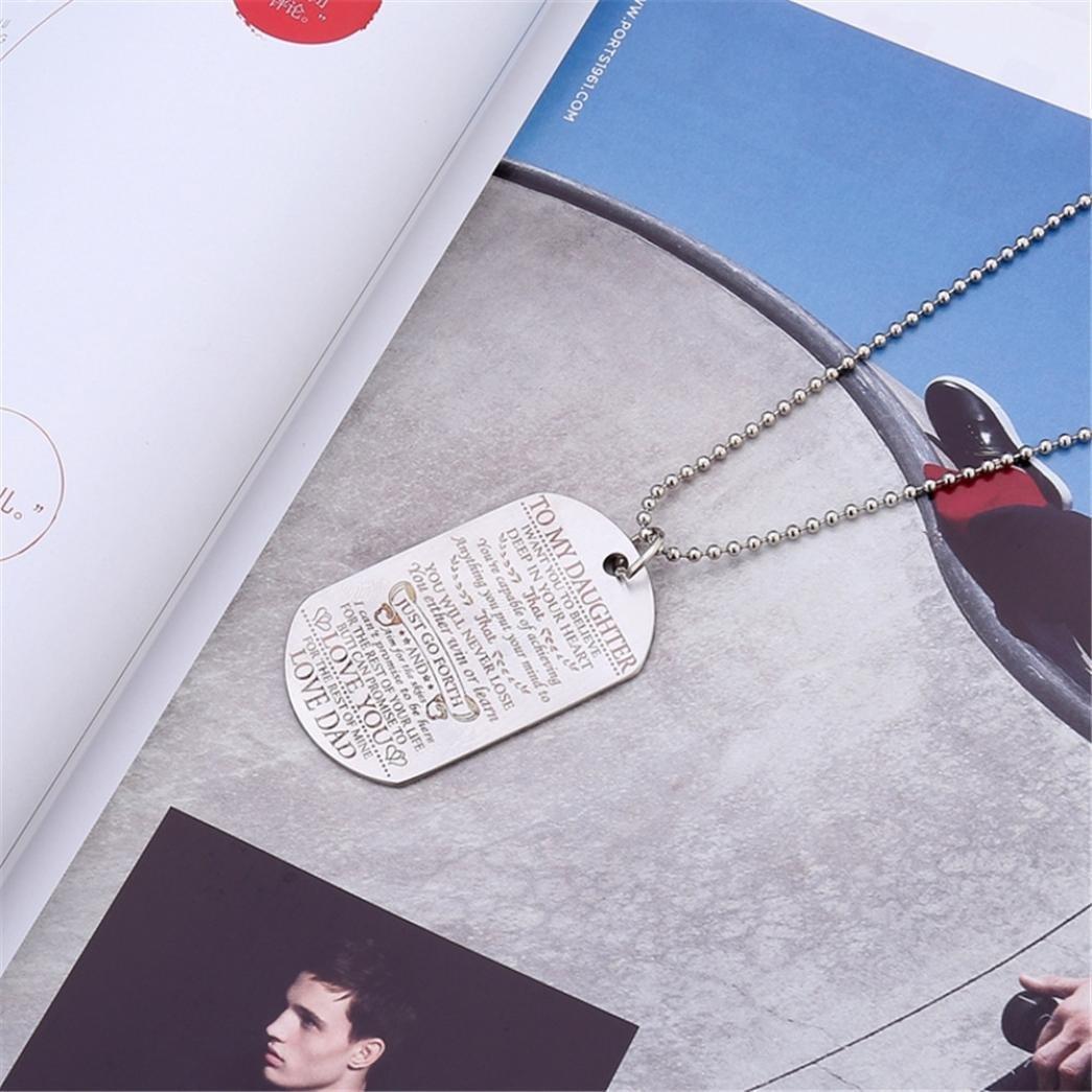 sameno Retro Art Hip-hop Necklace Trend Fashion Jewelry (A) by Hithop (Image #2)