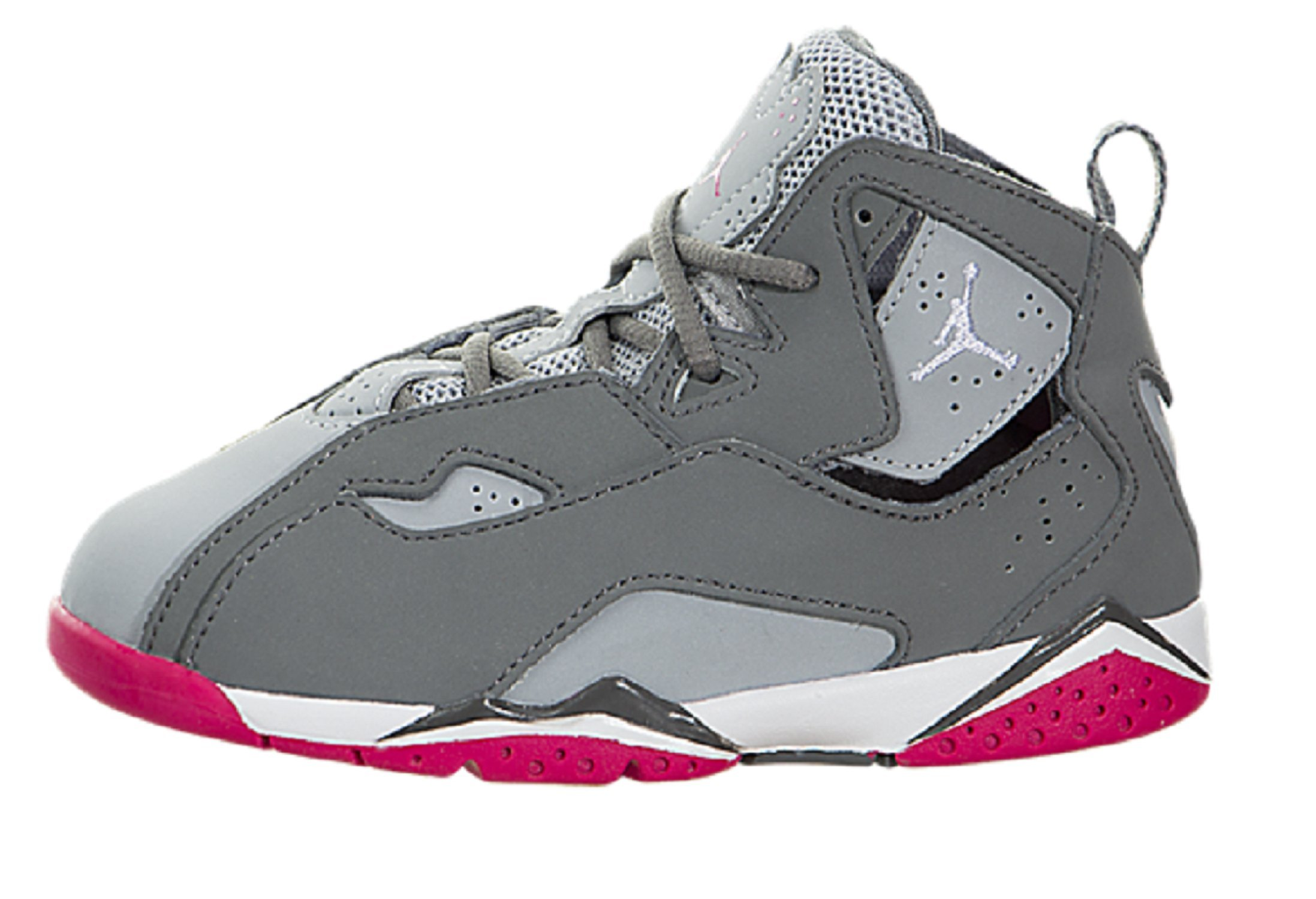 b917d474dc358 JORDAN TODDLER JORDAN TRUE FLIGHT GT GREY GREY PINK PINK SIZE 10
