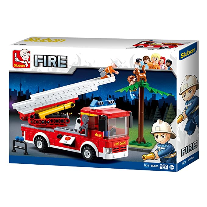 Sluban Building Blocks Fire Serie Fire Jeep figures Compatible Building Bricks