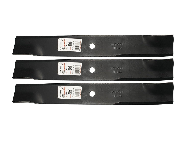 "Rotary (3) 11856 Mower Blades fit Excel Hustler 601124, 797696, 54"" Deck"