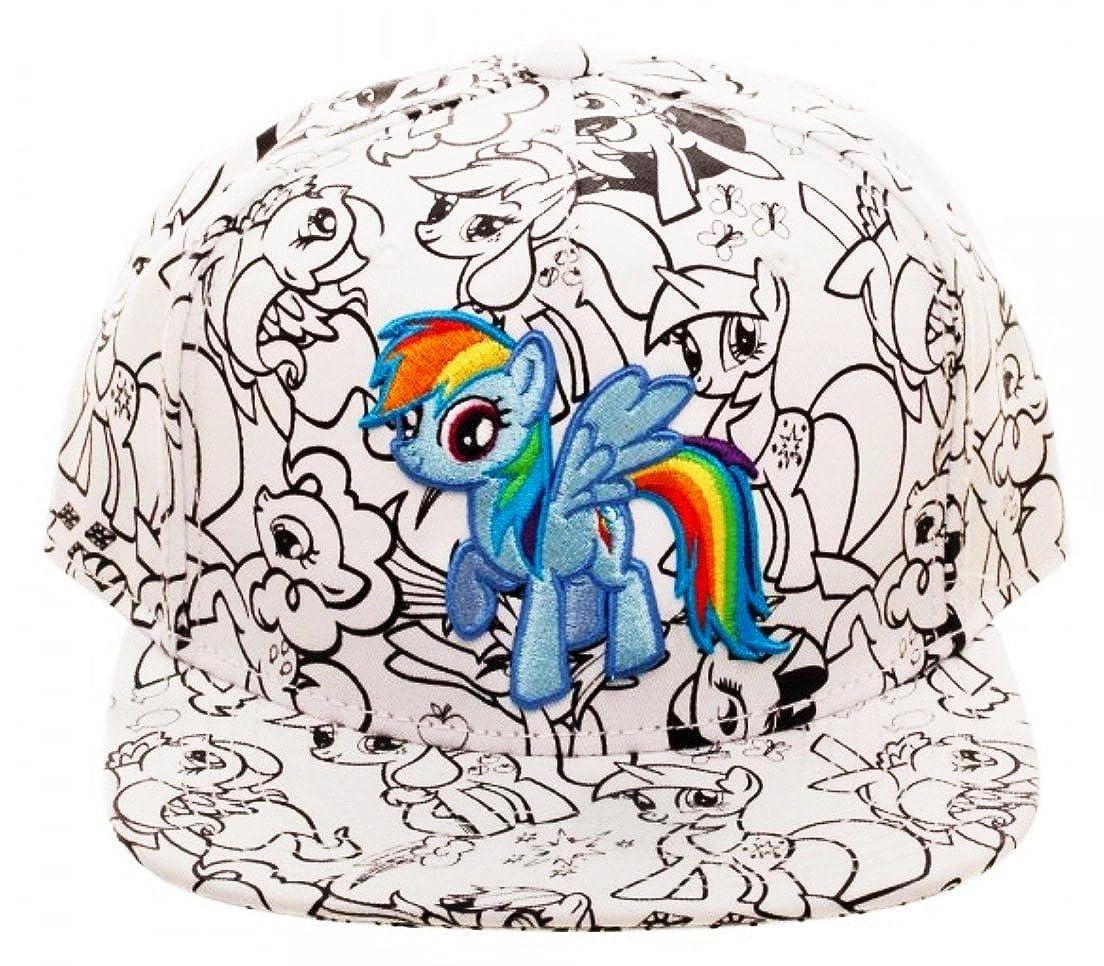 Main Street 24/7 My Little Pony Rainbow Dash DIY Color Snapback Baseball Cap/Hat
