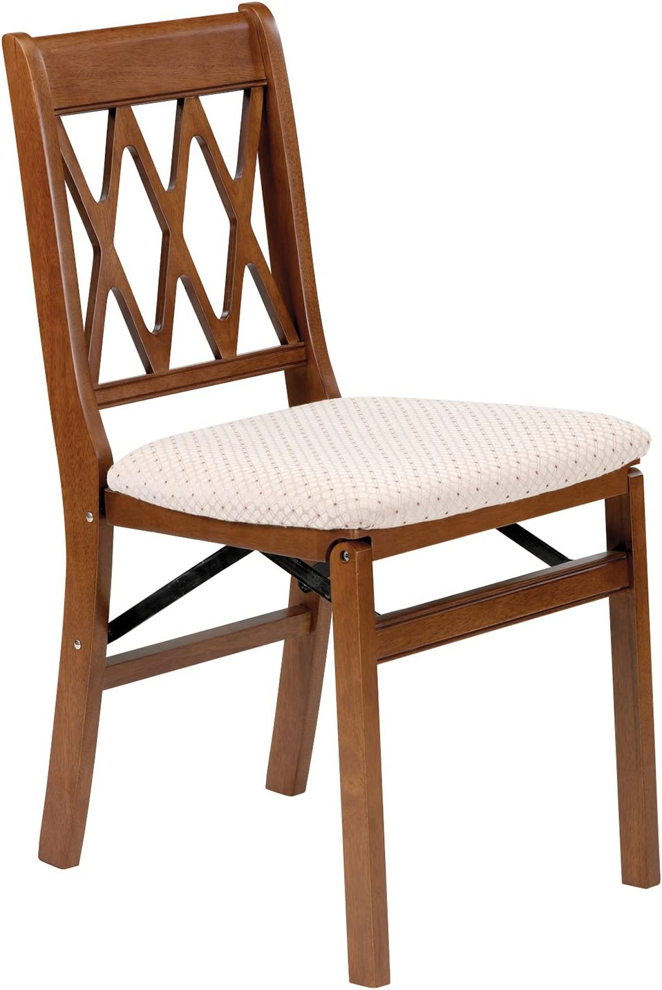 Amazon Com Stakmore Lattice Back Folding Chair Finish Set Of 2 Fruitwood Chairs