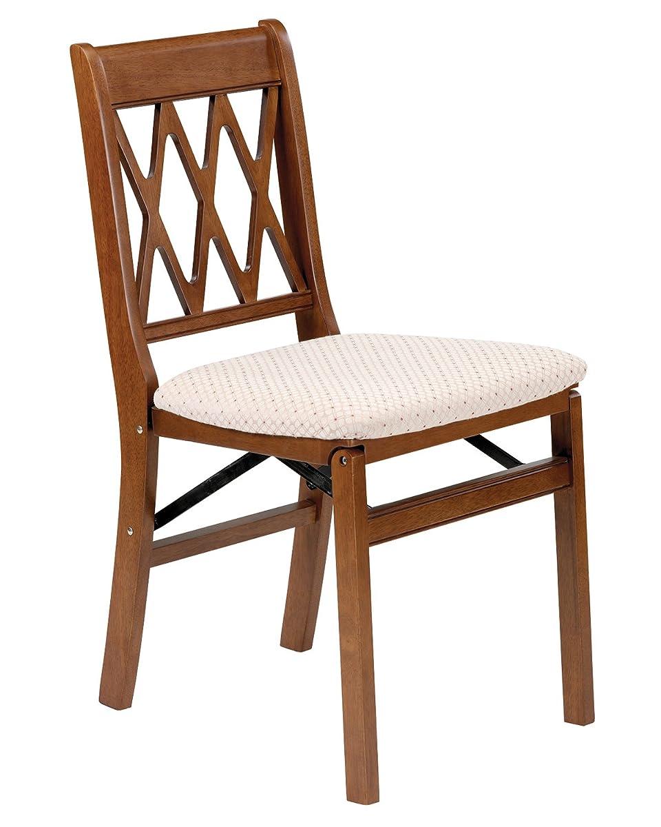 Stakmore Lattice Back Folding Chair Finish, Set of 2, Fruitwood
