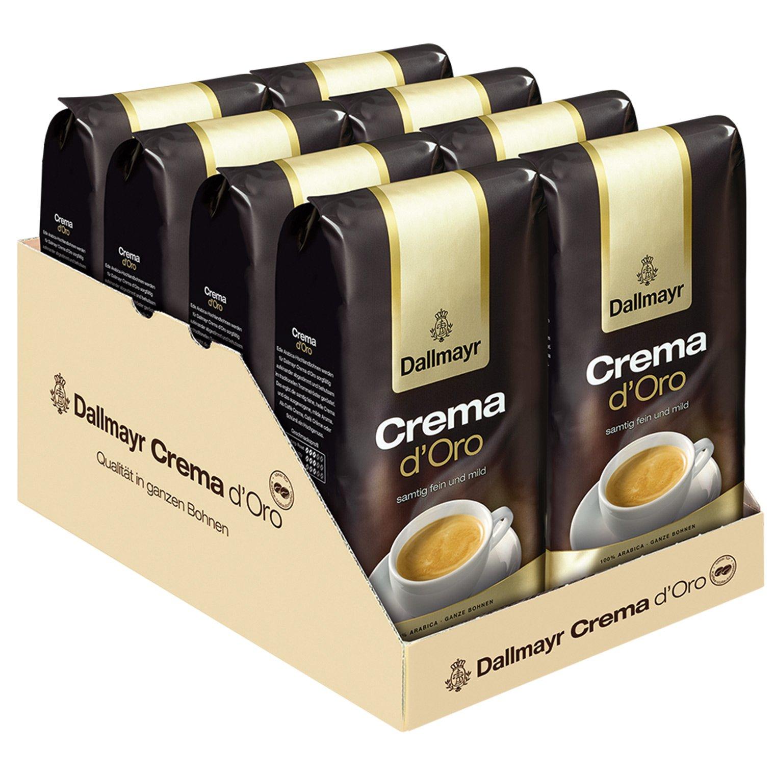 Dallmayr Crema d Oro Kaffee, ganze Bohnen, 8er Pack, 8 x 1000g
