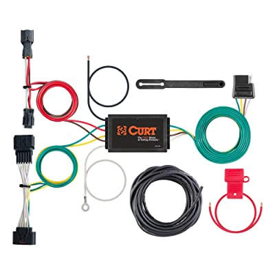 CURT 56321 Vehicle-Side Custom 4-Pin Trailer Wiring Harness for Select Kia Sportage: Automotive