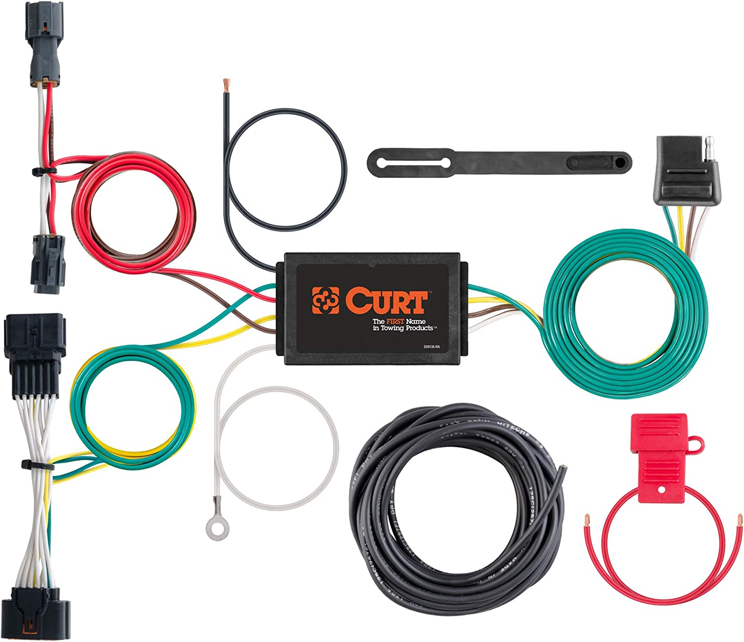 Amazon.com: CURT 56321 Vehicle-Side Custom 4-Pin Trailer Wiring Harness,  Select Kia Sportage: AutomotiveAmazon.com
