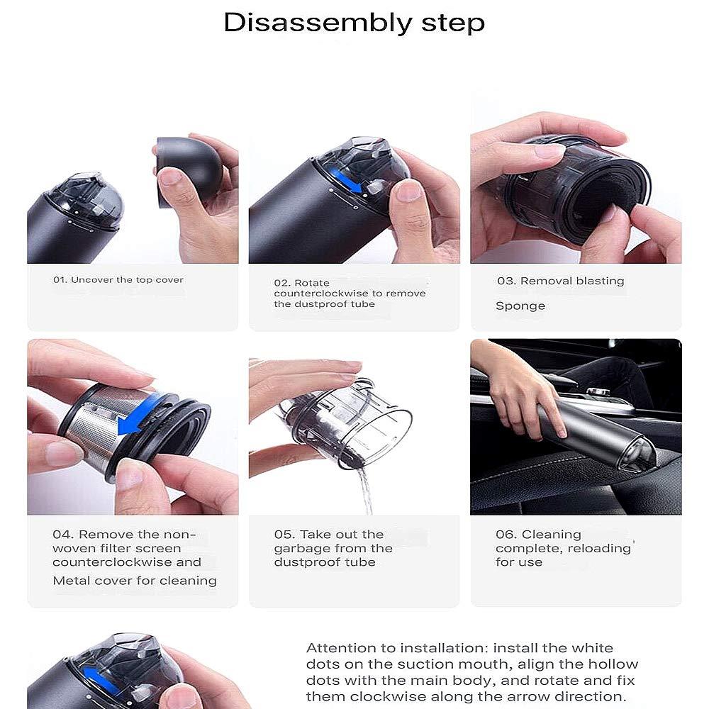Amazon com - NCBH Cordless Vacuum Cleaner, Mini Portable Car Vacuum