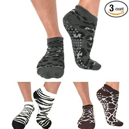 Amazon.com: Barre Yoga Pilates calcetines de agarre Animal ...