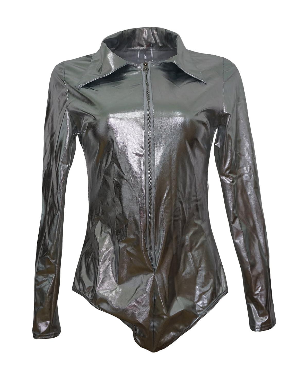 Jueshanzj Womens Lingerie Set Patent Leather Temptation Nigthwear ZTJSQQ0146