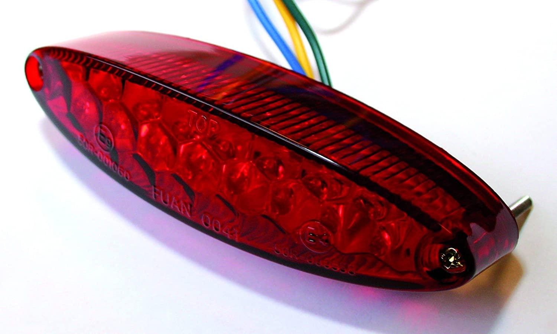 Kunststoff Multipurpose Unisex ShinYo LED R/ücklicht NUMBER1 mit Nr.-Beleuchtung klarglas Ganzj/ährig