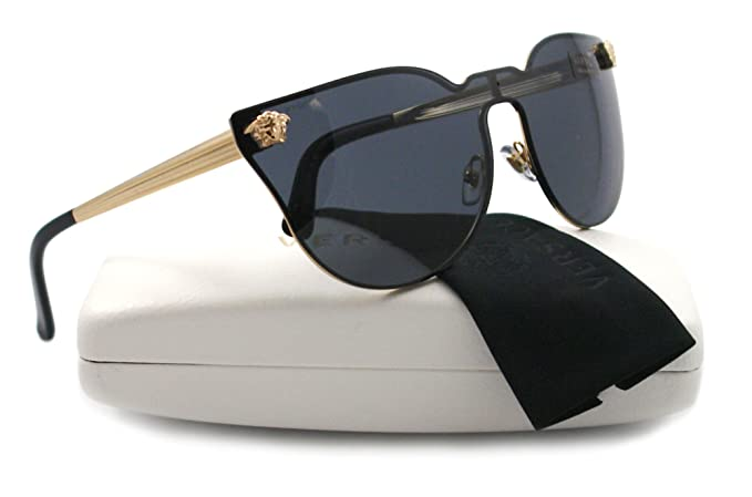 d220274cea Versace Sunglasses VE 2120 GOLD 1002 87 VE2120  Amazon.ca  Clothing ...