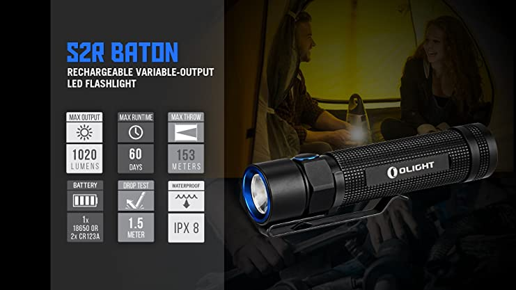 Olight S2R Rechargeable Flashlight