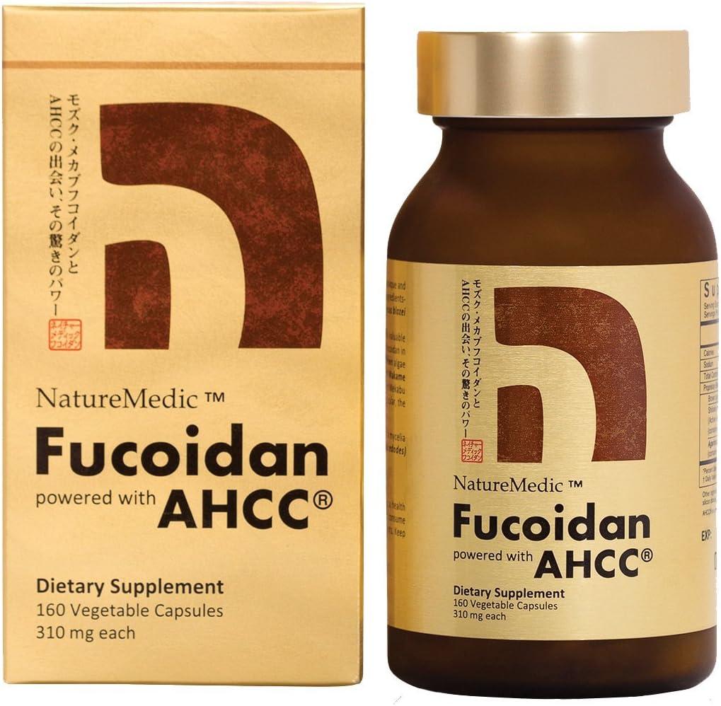 Amazon Com Naturemedic Fucoidan Ahcc Brown Seaweed Immunity Supplement With Organic Mekabu Mozuku Agaricus 160 Vegetable Capsules Made In Japan Health Personal Care