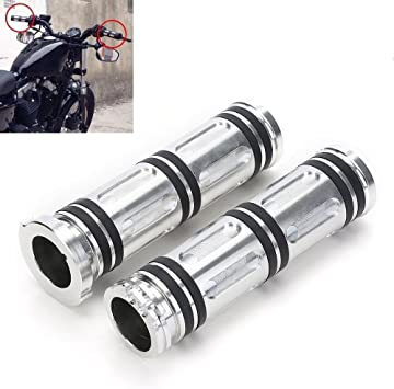 Harley Touring Sportster Dyna Softail Handlebar Hand Grip CNC Edge Cut 25mm 1 For Motorcycle