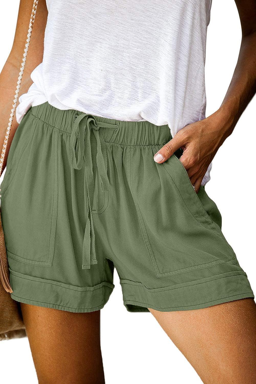 FANGJIN Short Mujer Pantalones Cortos Ropa Verano Playa de Arena Casual Pantalón
