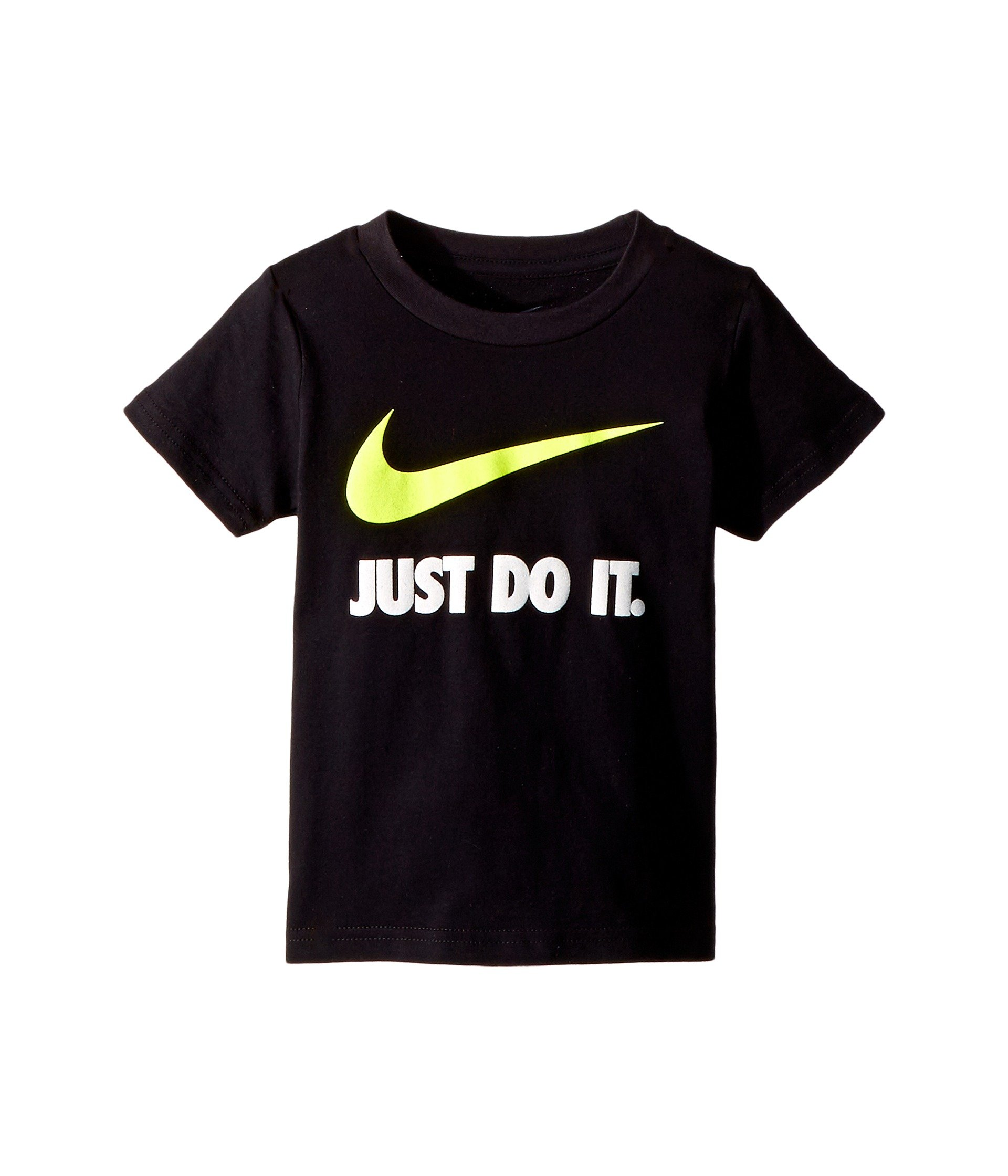Nike Boys Toddler T-Shirt (4T, Black/Volt (769461))