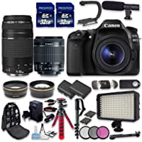 33rd Street Canon Eos 80d DSLR Camera Bundle with Canon Ef-S 18-55mm F/3.5-5.6 is STM Lens + Canon Ef 75-300mm F/4-5.6 Iii Lens