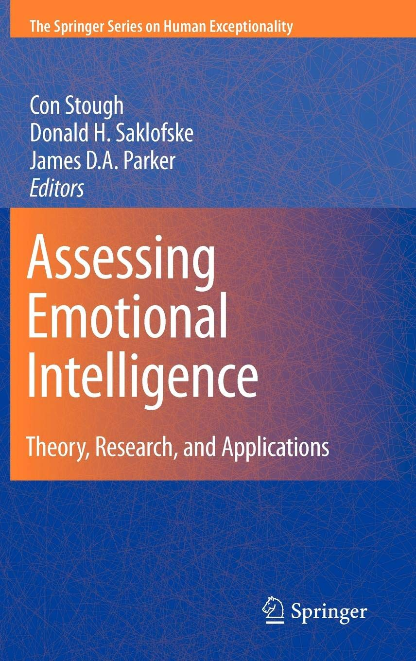 Assessing Emotional Intelligence  Theory Research And Applications  The Springer Series On Human Exceptionality
