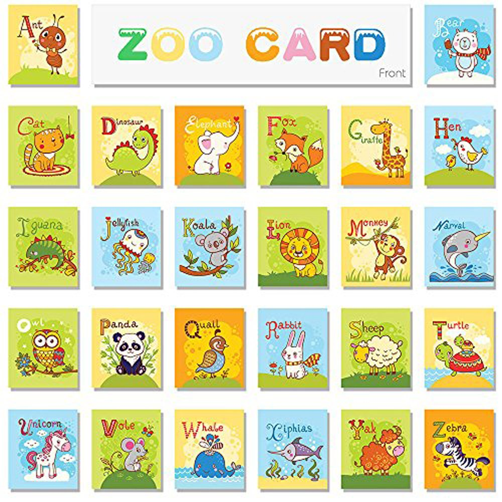 teytoy Baby Toy Zoo Series 26pcs Soft Alphabet Cards with Cloth Bag for Over 0 Years by teytoy (Image #4)