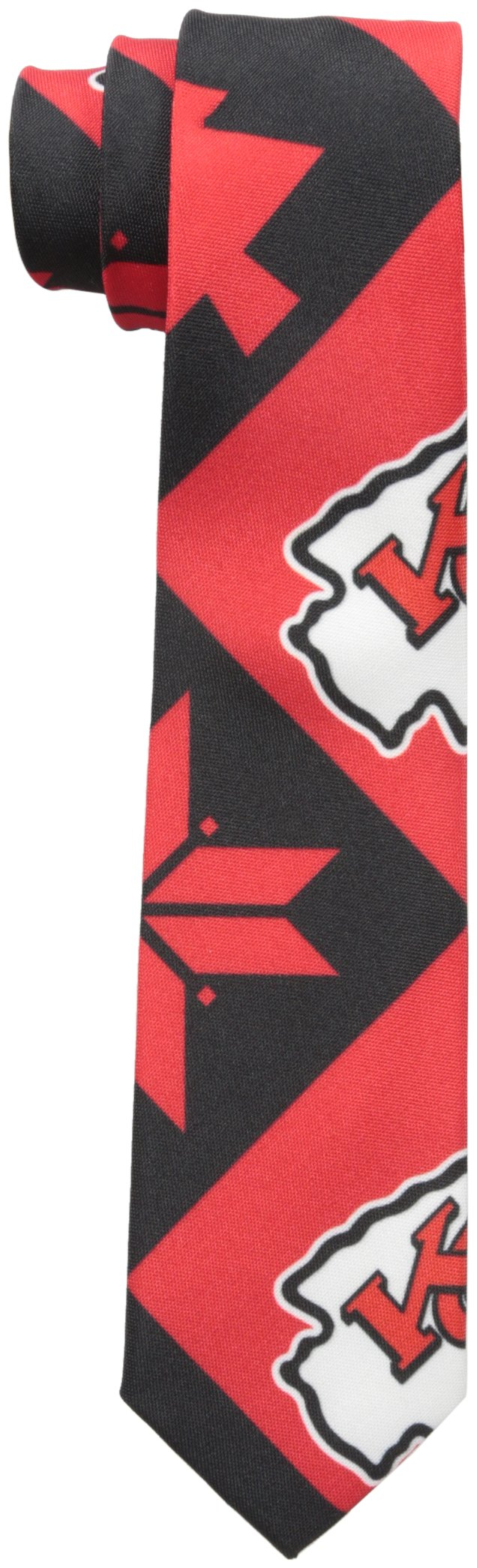 FOCO Kansas City Chiefs Patches Ugly Printed Tie - Mens