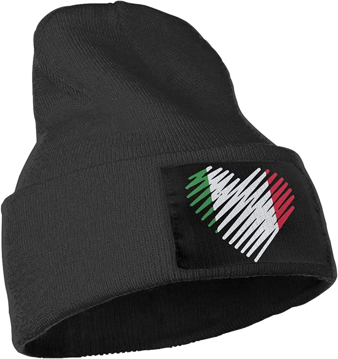 Love Italy Heart Italia Ski Cap Men Women Knit Hats Stretchy /& Soft Beanie