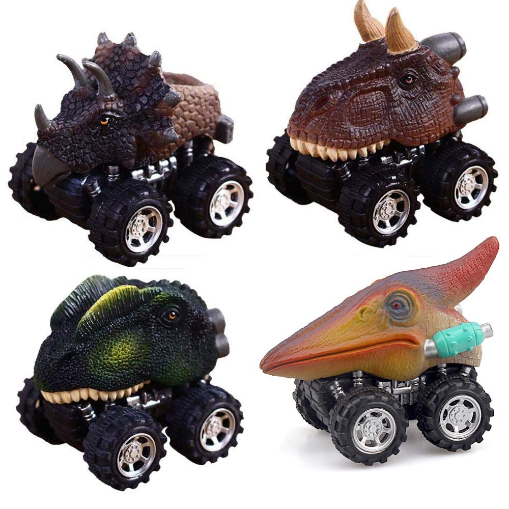 Searching Zhfuys Dinosaur Toys Pull Back Dino Cars With Big Tire