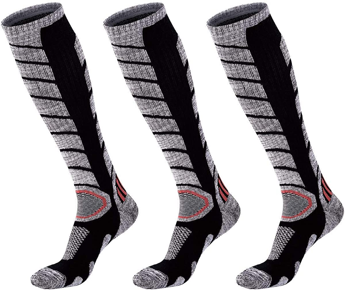 Snowboarding Performance Socks WEIERYA Ski Socks 2 Pairs Pack for Skiing