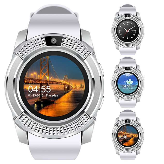 Padcod V8 Smart Watch Bluetooth with Camera Touch Screen Pedometer  Sedentary Reminder Sleep Monitor Instant Notification Anti-Lost smartwatch