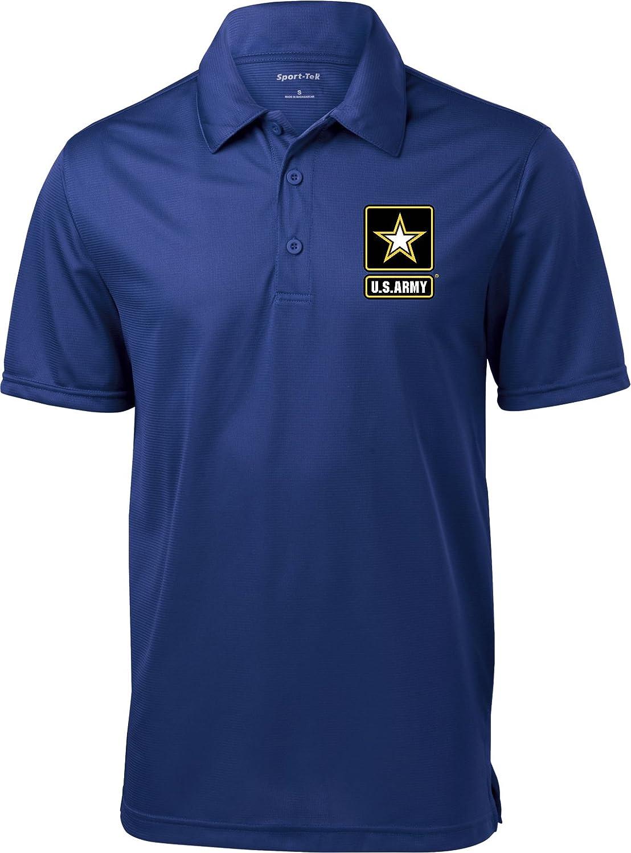 a87287a7ebe Amazon.com  Buy Cool Shirts Mens US Army Pocket Print Textured Polo   Clothing