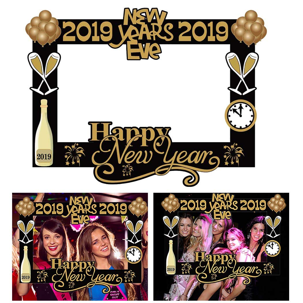 Buy Funpa Selfie Frame Photo Booth Prop Paper Photo Frame For New Year Online At Low Prices In India Amazon In
