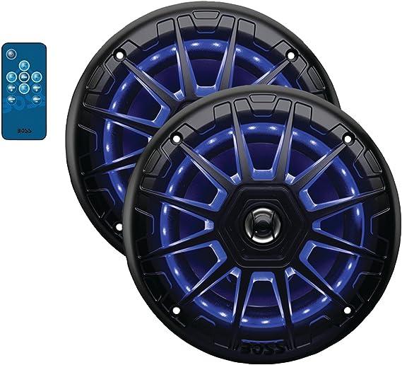 "Boss Audio MRGB65B 6.5/"" 2-Way 200W Marine Full Range Speaker w//RGB LED Lights"