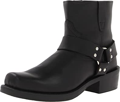 mens short leather boots