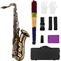 Muslady Bb Saxofón Tenor Acabado Antiguo Cuerpo
