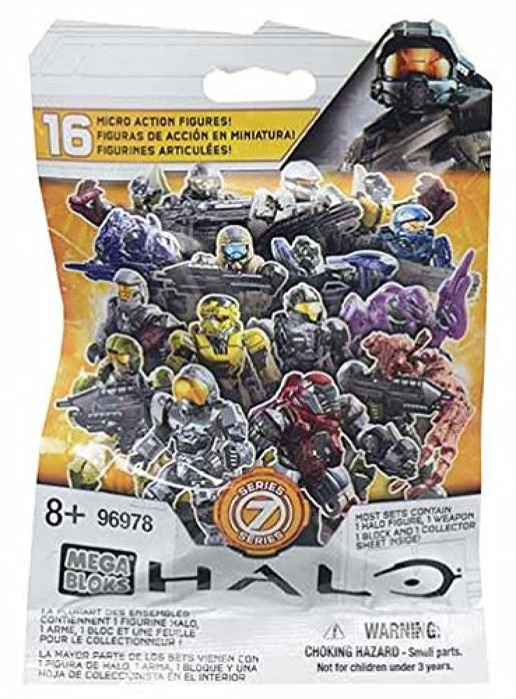 Mega Bloks Halo Series 7 1 Pack of Each Series 8 /& Series 9 Mini Figure Blind Bags