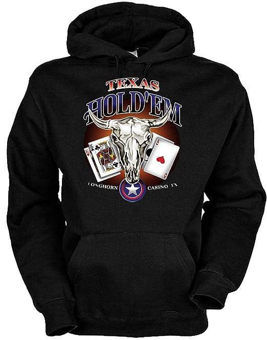 Diseño de cartas de póquer suéter con capucha: Texas Holdem/serigrafiado sudadera