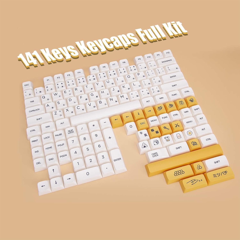 Milk & Bee XDA Profile Dye Sub PBT Keycaps - 141 Keys
