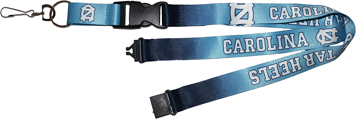 PSG North Carolina UNC Tar Heels Safety Lanyard Gradient Style 1 Inch Wide with Detachable End