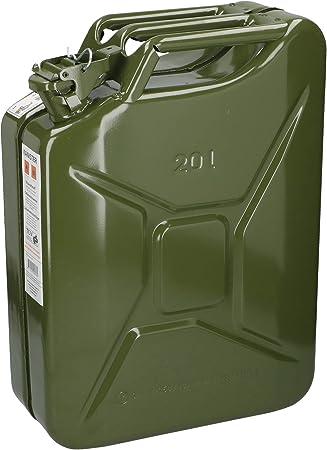 Edco Metall Benzinkanister Kraftstoffkanister 20 Liter 20l Mit Un Zulassung Auto