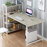 Scenic Computer Desk Table Laptop Display w/ 4 Tier Bookshelf Study Writing Home Office