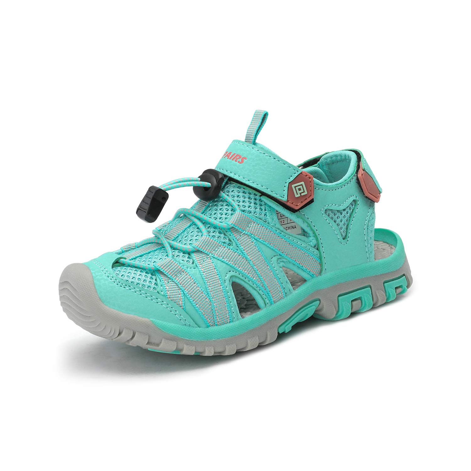 DREAM PAIRS Boys Girls 181108K Light Green Coral Closed-Toe Outdoor Summer Sandals Size 6 M US Big Kid