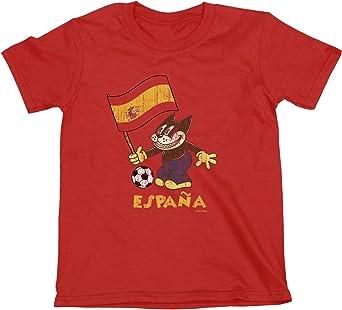 Niños O Niñas Spain Comic Fútbol Cat Flag Camiseta Copa Mundial ...