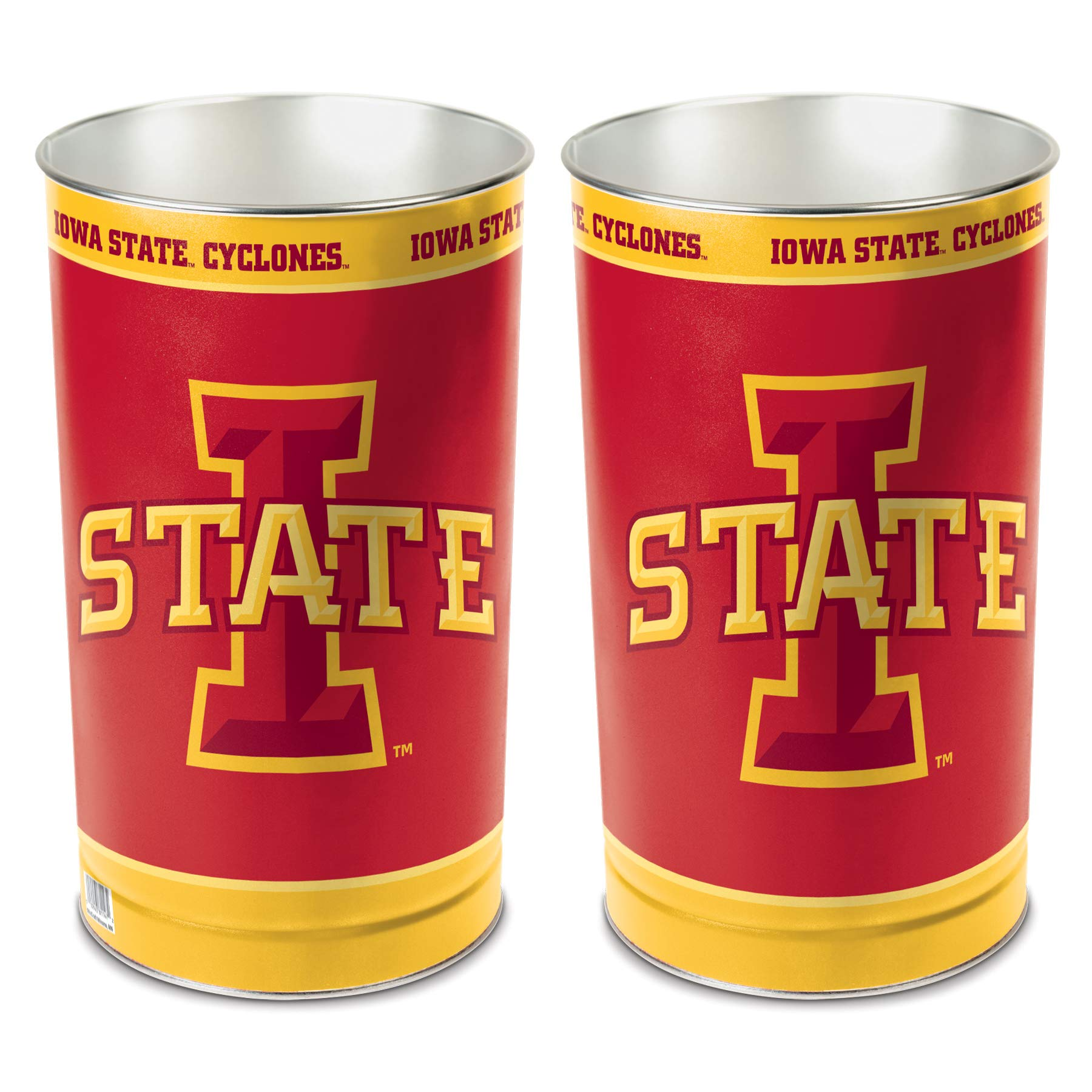 WinCraft NCAA Iowa State Cyclones 15 Waste Basket, Team Color, One Size