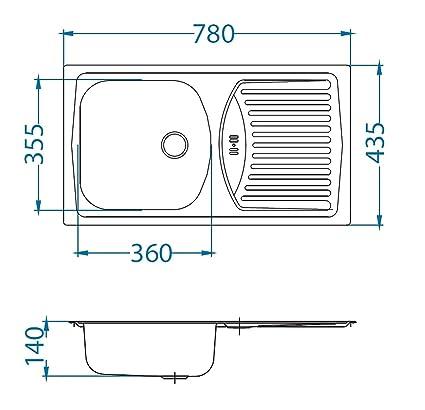 Alveus Basic 150 Küchen Camping Einbauspüle 780 x 435 mm ...