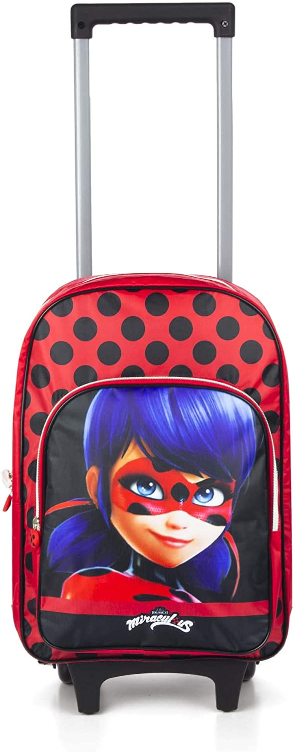 Grand Trolley MIRACULOUS LADYBUG 47 cm New 2020 Sac a Dos a Roulette