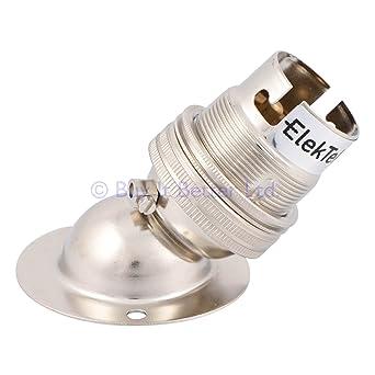 Embellecedor para aplique de lámpara ángulo bañado en níquel W BC B22 incluye arandela **