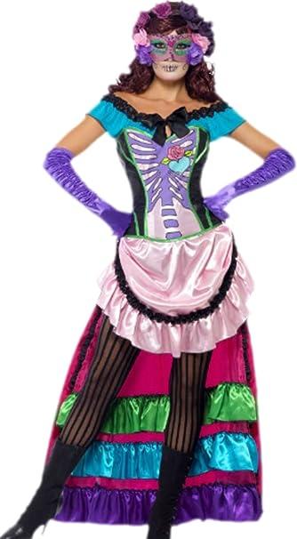 erdbeerloft – para disfraz de mujer Mexicano fijo Calavera Hueso ...