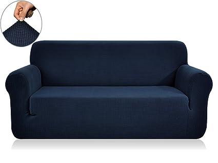 Chunyi Jacquard Sofa Covers 1 Piece Polyester Spandex Fabric Slipcovers ( Sofa, Dark Blue