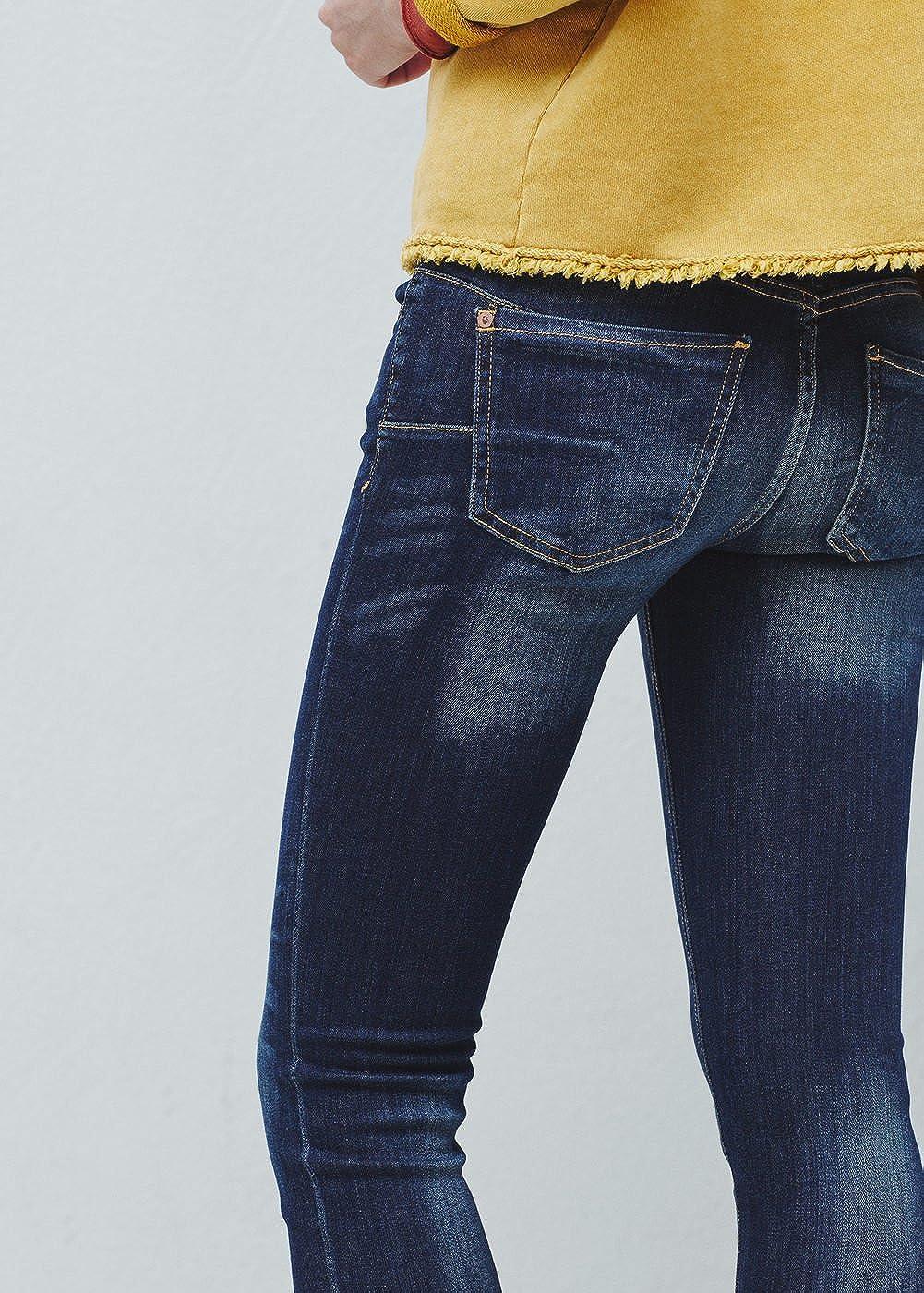 MANGO -Pantalones vaqueros Push-up Uptown Mujer Azul azul ...
